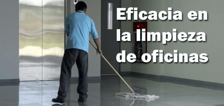 ¿Qué medidas tomar para el control de eficacia para la limpieza en oficinas?